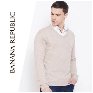 Banana Republic CottonCashmere V-Neck Sweater